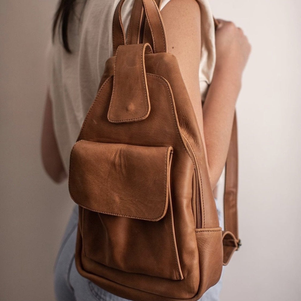 Wanderlust Leather Backpack