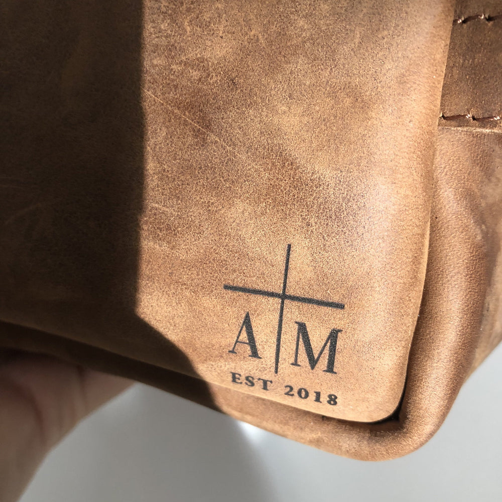 Personalised Gift | Custom Laser Engraving - Bovine Leather
