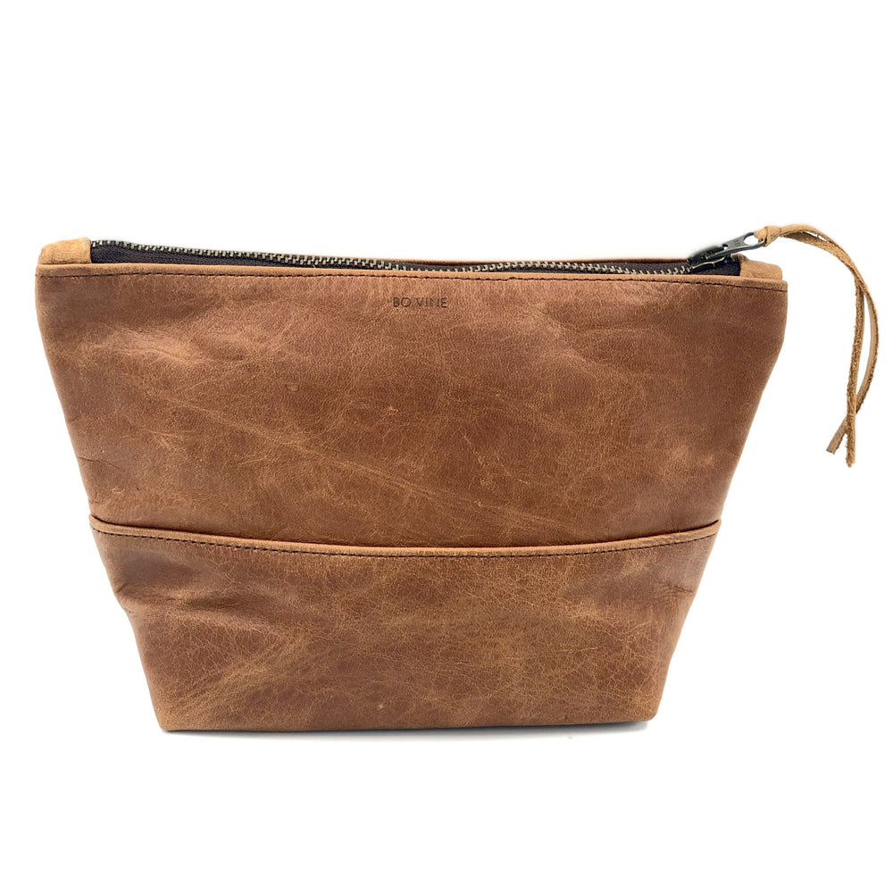 Leather Makeup Bag/Toiletry Bag