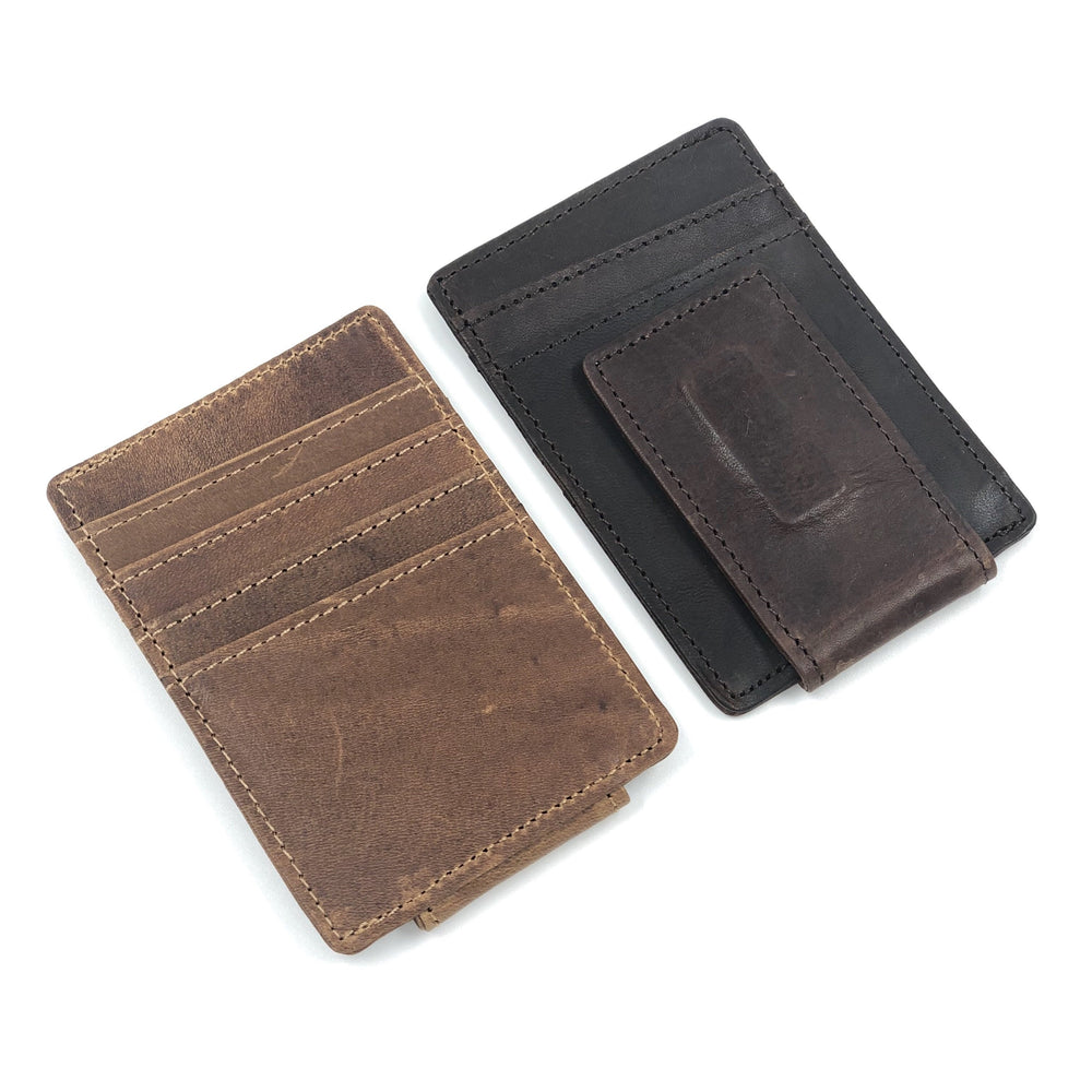 Minimalist Leather Money Clip - Bovine Leather