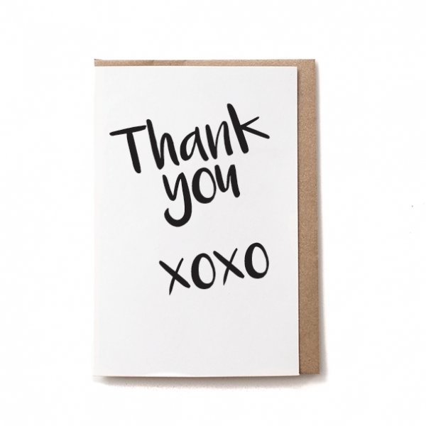 Love and Thank you - Bovine Leather