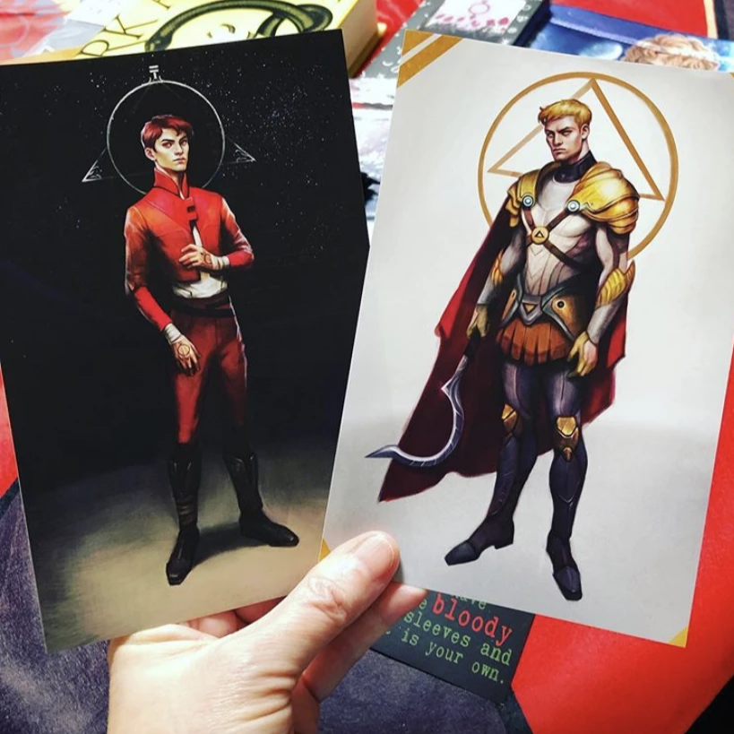 Red Rising Red Darrow & Gold Darrow Book Endpage Stickers