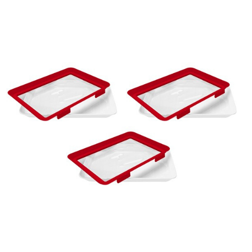 3 Pack: Microwaveable Food Sealing Tray