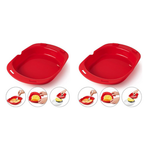 (2 Pack) - Microwave Silicone Omelet Maker