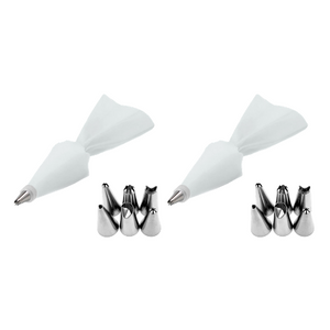(2 Pack) Cake Decor Piping Tips