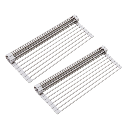 2 Pack- Roll-Up Dish Drying Rack
