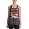 All I Want for Christmas is Clean Lines Form-Fitting Racerback Tank