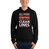 All I Want for Christmas is Clean Lines Unisex Hoodie