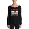 Dance with Happy Form-Fitting Long Sleeve Tee