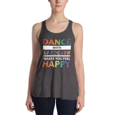 Dance with Happy PRIDE EDITION Form-Fitting Racerback Tank