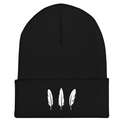 Feather Three Beanie