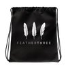 Feather Three Drawstring Bag