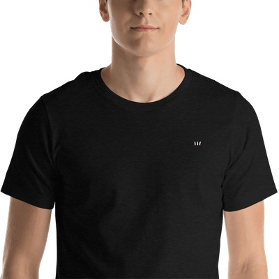 Feather Three Logo Embroidered Unisex T-Shirt