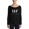 Feather Three Logo Form-Fitting Long Sleeve Tee