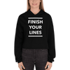 Finish your Lines Unisex Crop Hoodie