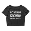 Foxtrot and Mambo Sheets Form-Fitting Crop-Top