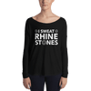 I Sweat Rhinestones Form-Fitting Long Sleeve Tee