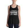 I Sweat Rhinestones Form-Fitting Racerback Tank