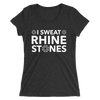 I Sweat Rhinestones Form-Fitting T-Shirt