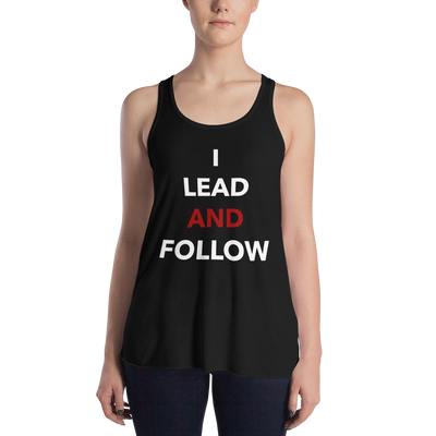 Lead and Follow Form-Fitting Racerback Tank