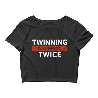 Twinning is Winning Twice Form-Fitting Crop Top