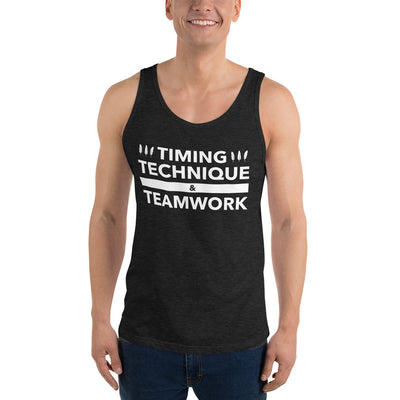 Timing, Technique, and Teamwork Unisex Tank Top