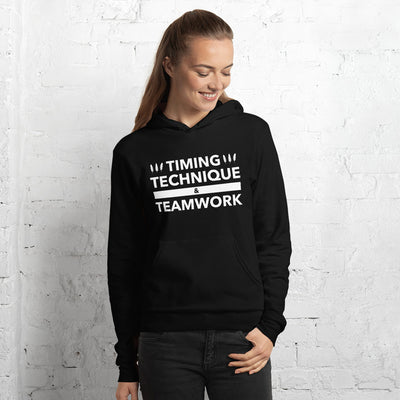 Timing, Technique, and Teamwork Unisex Hoodie