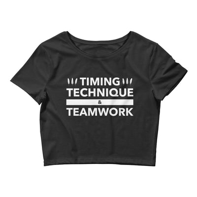 Timing, Technique, and Teamwork Form-Fitting Crop Top