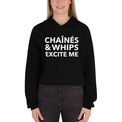 Chaînés and Whips Excite Me Crop Hoodie