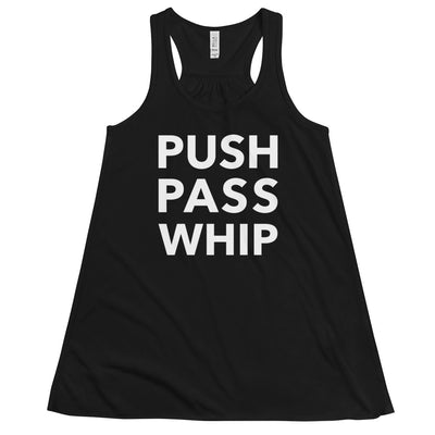 Push Pass Whip Form-Fitting Racerback Tank