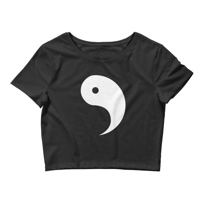 Yin and Yang LEFT SIDE Form-Fitting Crop Top