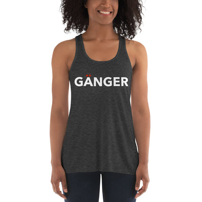 Doppelgänger LEFT SIDE Form-Fitting Flowy Racerback Tank