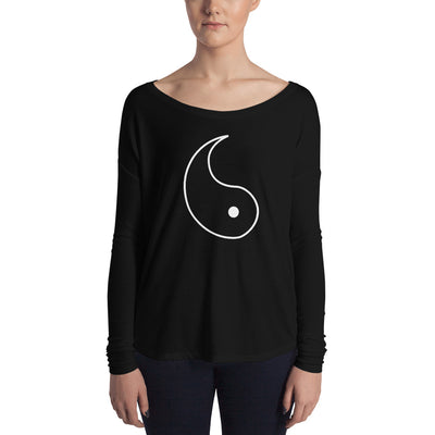 Yin and Yang RIGHT SIDE Form-Fitting Long Sleeve