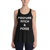 Posture, Pitch, & Poise Form-Fitting Racerback Tank