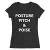 Posture, Pitch, & Poise Form-Fitting T-Shirt
