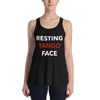 Resting Tango Face Form-Fitting Racerback Tank