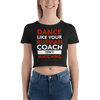 Russian Coach Form-Fitting Crop-Top