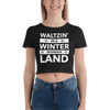 Waltzin' in a Winter Wonder Land Form-Fitting Crop Top