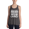 Waltzin' in a Winter Wonder Land Form-Fitting Racerback Tank