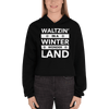 Waltzin' in a Winter Wonder Land Unisex Crop Hoodie
