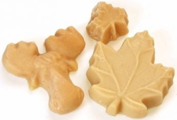 Maple sugar candy moose and leafs