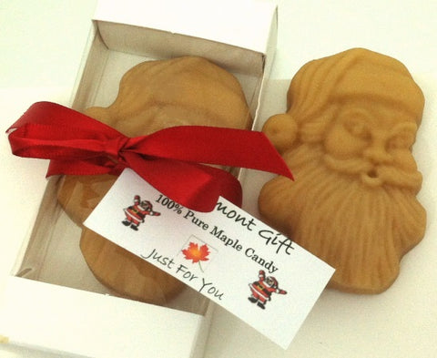 Maple sugar candy Santa face, gift boxed