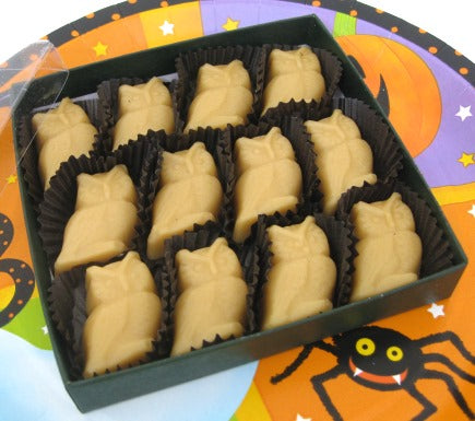 Halloween OWLS Vermont Maple Candy, 12-piece Gift Box