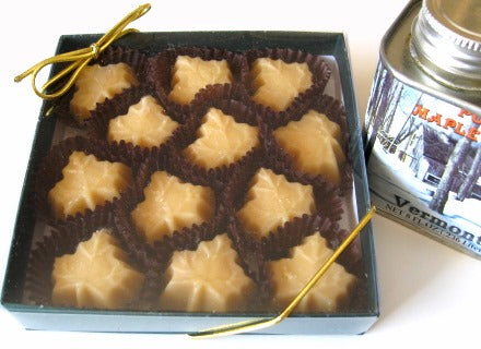 Vermont Maple Sugar Candy LEAFS, 12-piece Gift Box