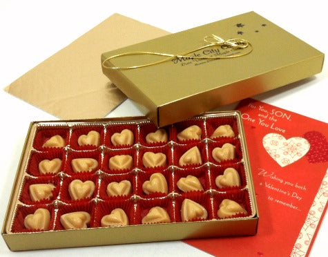 Happy Valentines Day! Pure Maple Sugar Candy Hearts Gift Box