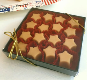 Pure Maple Sugar Candy STARS, 12-piece Gift Box