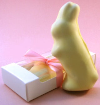 Chocolate dipped maple candy Easter bunny