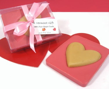 Pink Chocolate-Maple Bar, Valentine's Day Candy Heart