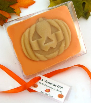 Pumpkin chocolate maple Halloween candy gift, view 1
