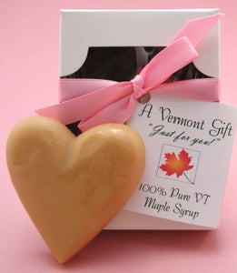 Large maple candy heart and gift box